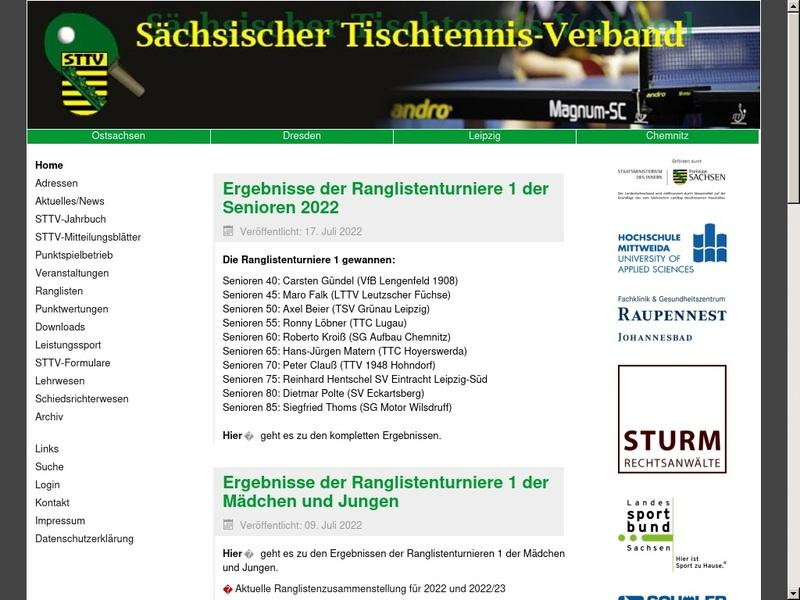 Screenshot von www.sttv.de