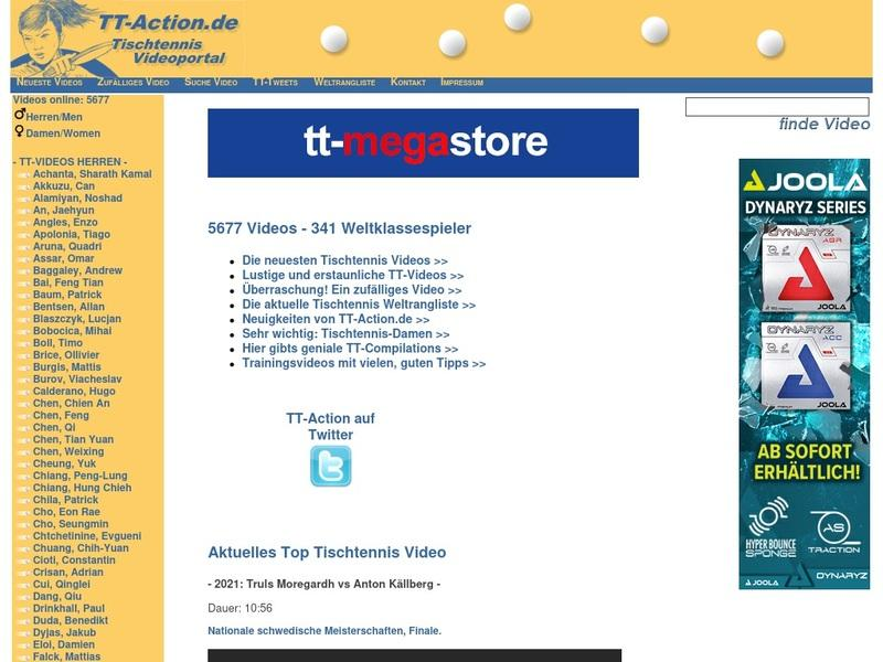Screenshot von www.tt-action.de